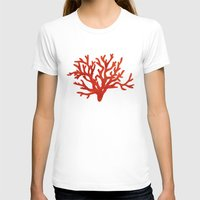 coral T-shirts featuring Coral  by AnaCZ