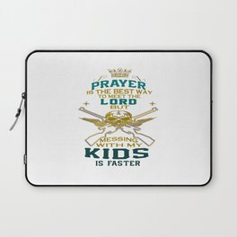 Mess With My Kids! Laptop Sleeve
