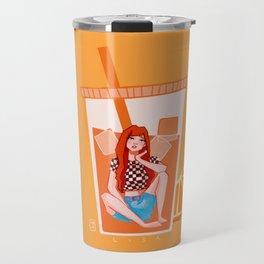 BLACKPINK Orange Lisa Travel Mug