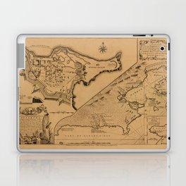 Map of Louisbourg 1757 Laptop & iPad Skin