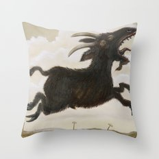 Ave Satani Throw Pillow