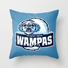 Planet Hoth Wampas - Blue Throw Pillow