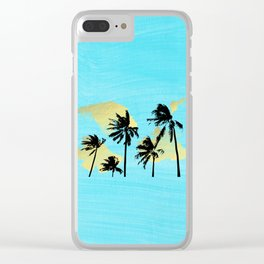 Palm Trees in Moorea Clear iPhone Case