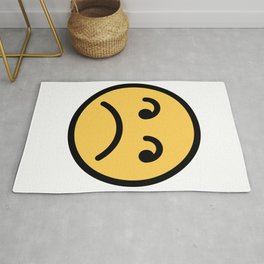 Smiley Face   Annoyed Rolling Eyes   Mouth Sad Rug