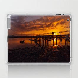 Pier on the beach of Zeluan Laptop & iPad Skin