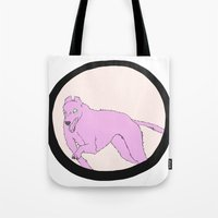 running Tote Bags featuring Running by Eve-Gittins