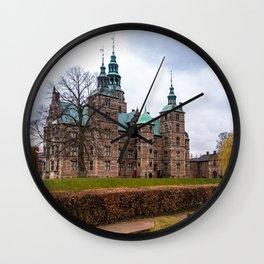 Rosemborg Castle, Copenhagen in Denmark Wall Clock