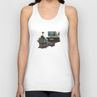 inside gaming Tank Tops featuring Pixel Gaming by Steven Kaule