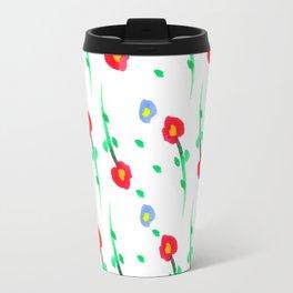 Doodle: flowers pattern Travel Mug
