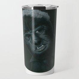 The Wolf Man on vinyl record print Travel Mug