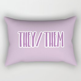 They/Them Pronouns Print Rectangular Pillow
