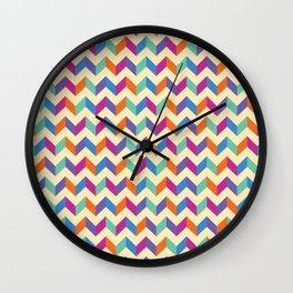 Coloured Chevron Wall Clock