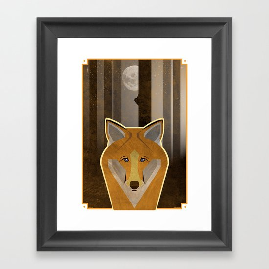 Night Fox Framed Art Print