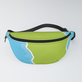 map of Africa Continent and blue Ocean. Vector illustration Fanny Pack