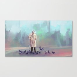 Birds man Canvas Print