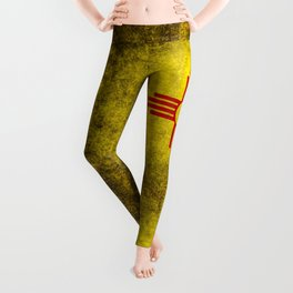 Flag of New Mexico - vintage retro style Leggings