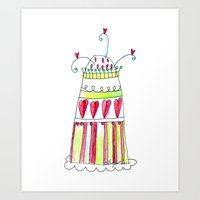 cake Art Prints featuring Cake by Stefania Morgante
