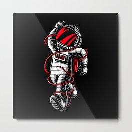 Astronauts Planet Gift Idea Design Motif Metal Print