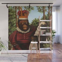 Monkey Queen with Pug Baby Wall Mural