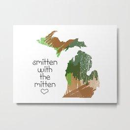Smitten with the mitten Metal Print