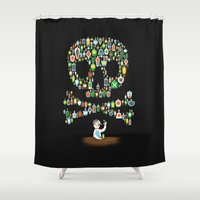 whisky Shower Curtains featuring What's your poison? by Wharton