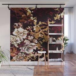 Tropical Blaze Floral Print Wall Mural