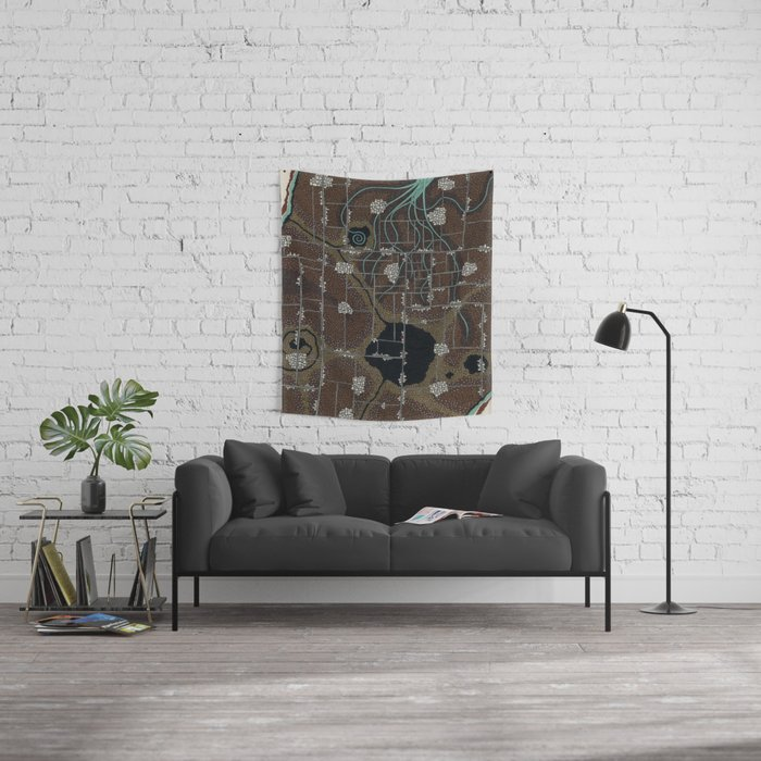 there's a hole there Wall Tapestry