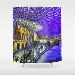 Kings Cross Station London Art Shower Curtain