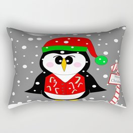 Christmas Penguin Rectangular Pillow