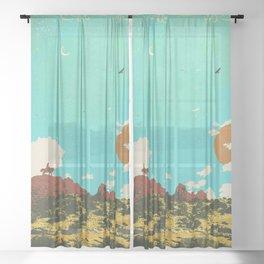 DESERT DUSK Sheer Curtain