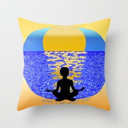 Silence: It Goes Without Saying Throw Pillow