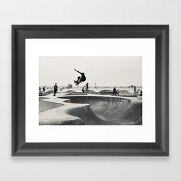 Skateboarding Print Venice Beach Skate Park LA Framed Art Print
