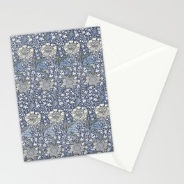William Morris Navy Blue Botanical Pattern 7 Stationery Cards