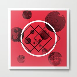 Red Swoon Metal Print