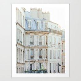Montmartre Sunrise - Paris France Travel Photography Art Print