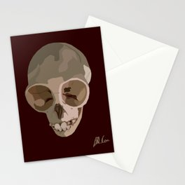 Young Gibbon Skull Stationery Cards