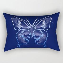 Galactica Blue Butterfly Rectangular Pillow