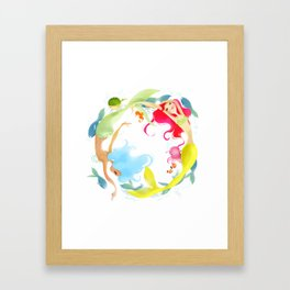 Mermaid Circle Framed Art Print