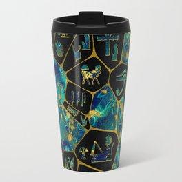 Egyptian  Gold and Marble Voronoi diagram Travel Mug