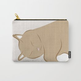 Happy Sleepy Kitty Illustration Carry-All Pouch