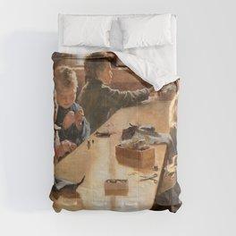 Albert Edelfelt - The Boys Workhouse, Helsinki - Digital Remastered Edition Comforters