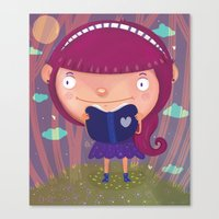 girly Canvas Prints featuring Girly by Maria Jose Da Luz