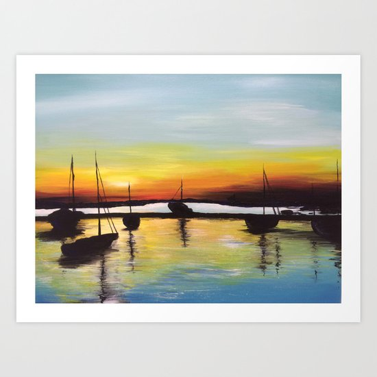 Harbour by billypettingerart