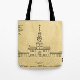 Independence Hall Philadelphia Tote Bag