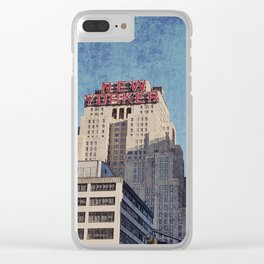 Distressed New Yorker Clear iPhone Case