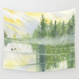 Foggy Morning Wall Tapestry