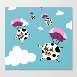 flying cows Canvas Print