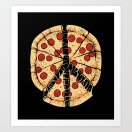 Peacezza Art Print