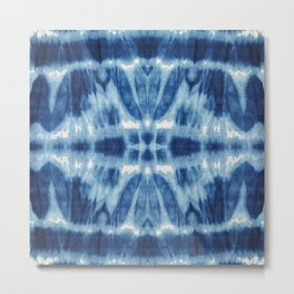 Tie Dye Blues Twos Metal Print