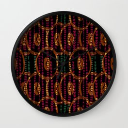 Abstract Pattern - Emerald  & Gold Wall Clock